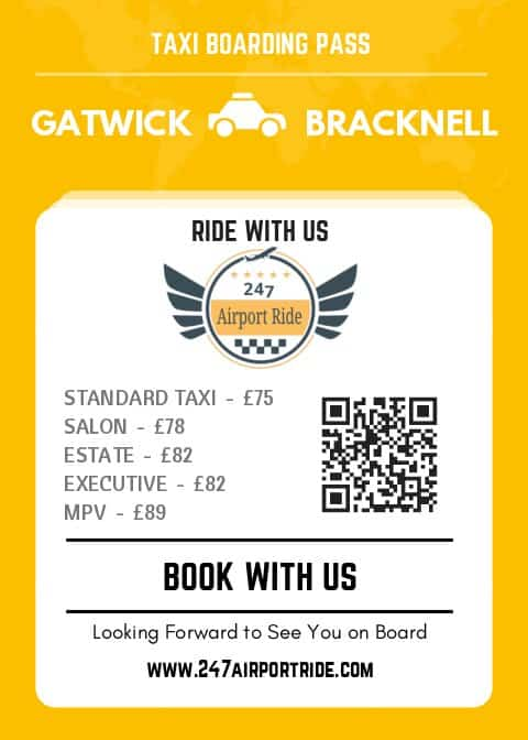 gatwick to bracknell price