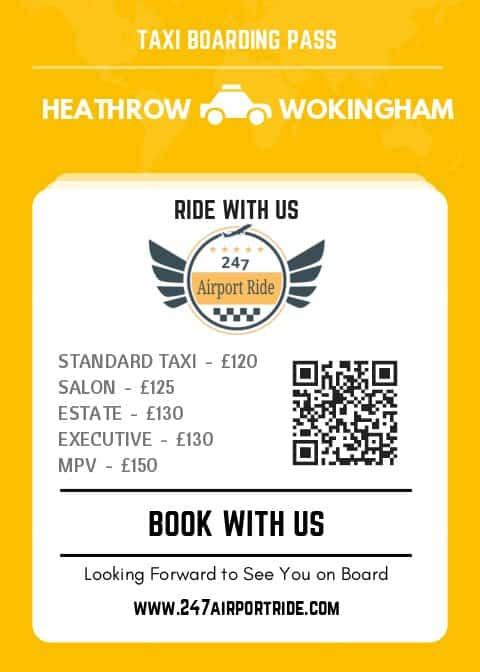 heathrow to wokingham price