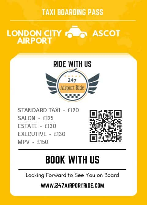 london city airport to ascot price