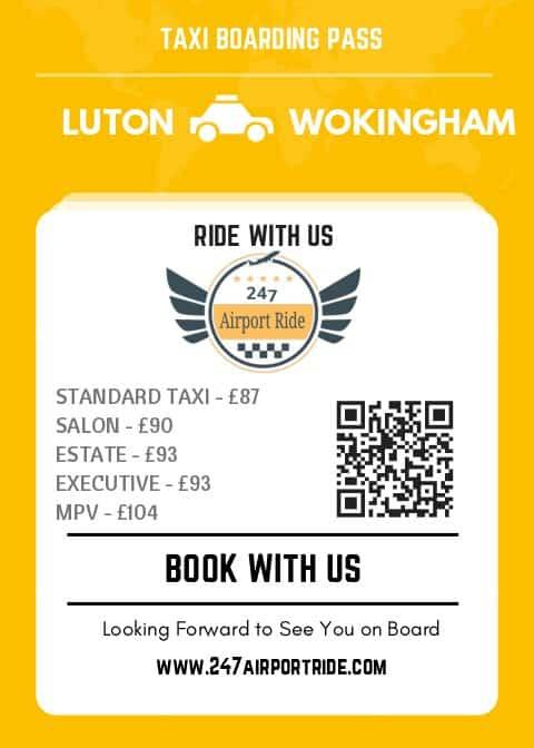 luton to wokingham price