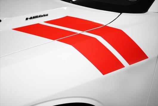 Dodge Challenger 08 16 Vinyl Side Stripes Graphics For Hood