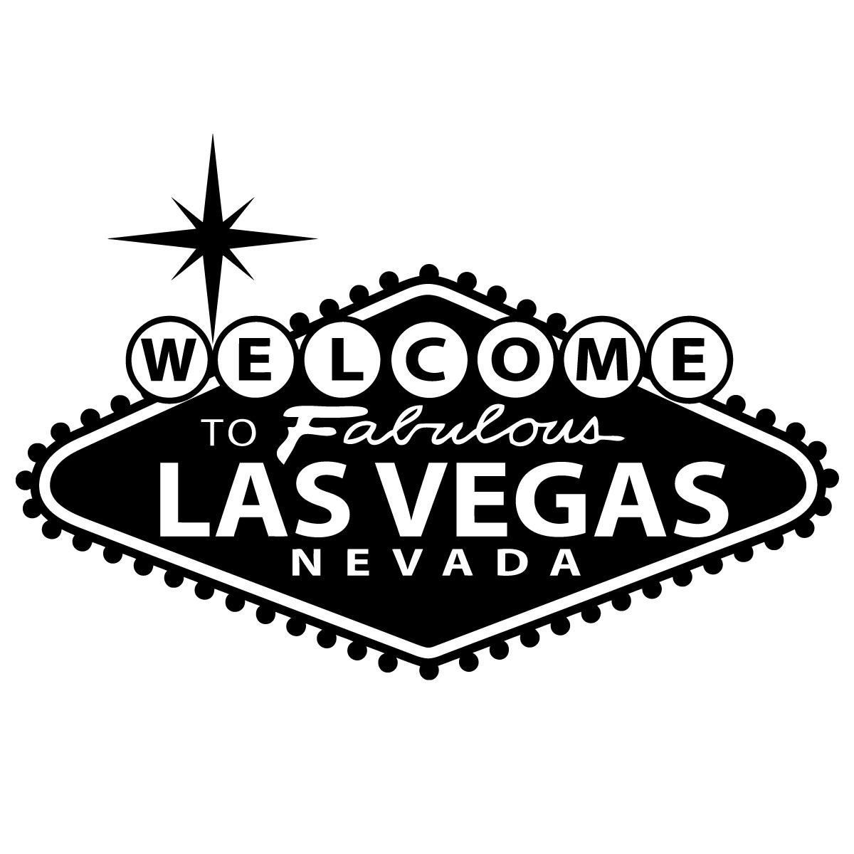 46 X 31 Las Vegas Sign Vinyl Bedroom Wall Art