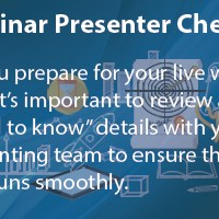 Webinar: Presenter Checklist