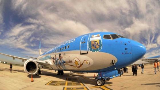 avión selección mundial