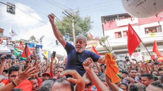 Lula habló ante una multitud:
