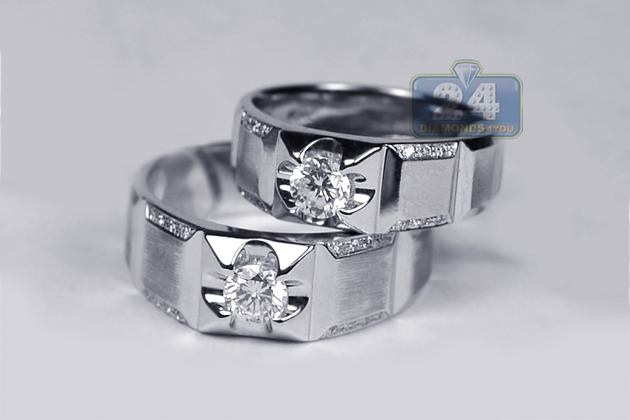 Wedding Ring Sets For Him And Her Good Diamond Wedding