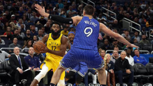 Short handed Pacers have no problem beating Magic 112-90