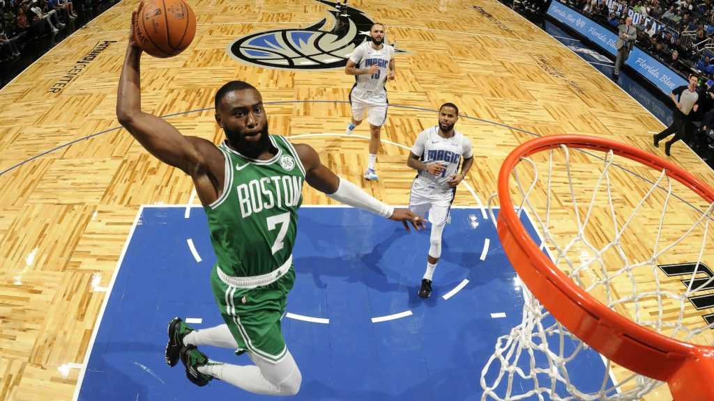 Celtics dismantle Magic easily 100-75 in home debut