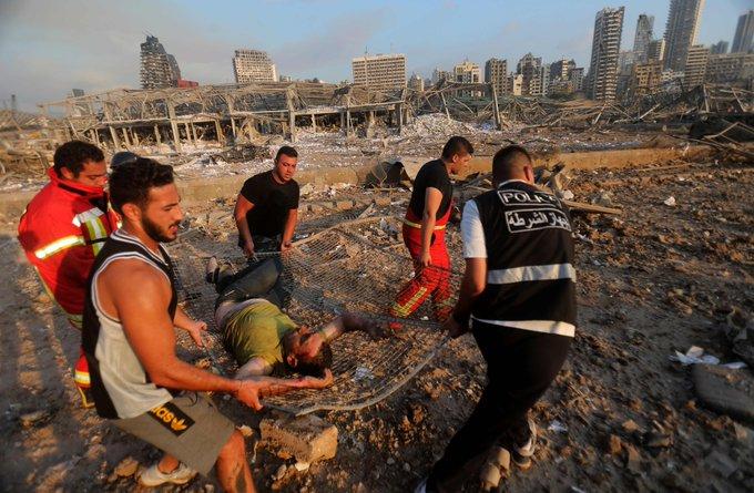 Double explosion à Beyrouth: bilan provisoire de 50 morts et 2.700 blessés