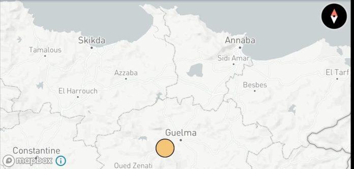 Séisme de magnitude 4.8 à Guelma