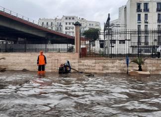 Intempéries: plusieurs axes routiers fermés à Alger