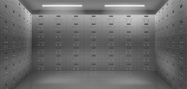 Deposit-safe-box-content-verification