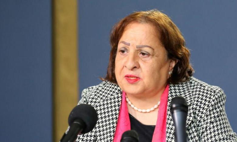 وزيرة الصحة الفلسطينية