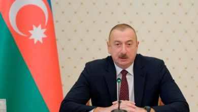 صورة رئيس اذربيجان: يد الحديد هي التي اجبرت أرمينيا على الاستسلام