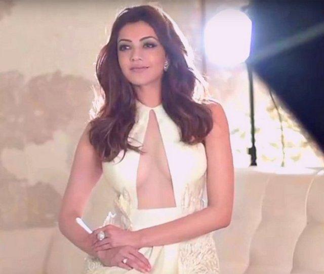 Kajal Agarwal Ultra Hd Photos For South Scope Magazine  Kajal Aggarwal Yellow Gown
