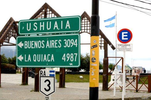 Direzione e distanza da ushuaia