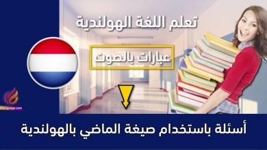 أسئلة باستخدام صيغة الماضي بالهولندية