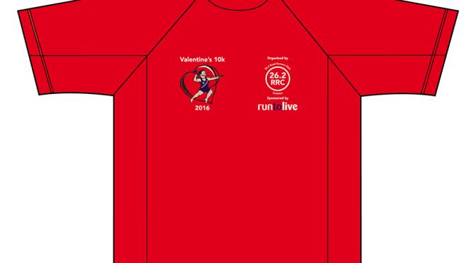 Valentine's 10k – finisher's technical t-shirt