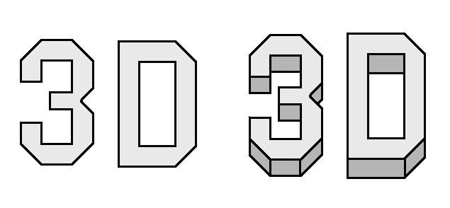 Graffiti-Buchstaben in 3D zeichnen