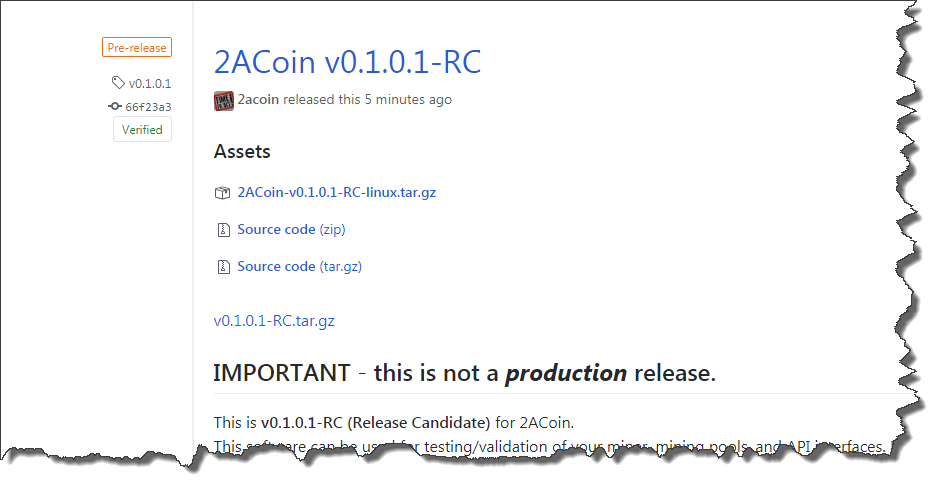 2ACoin Release Candidate_v0101