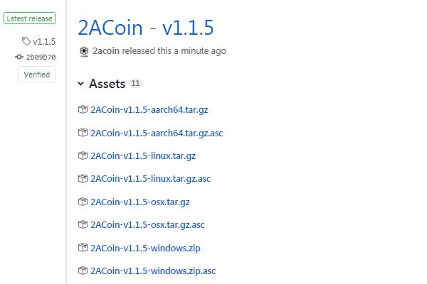 2ACoin v1.1.5 Release