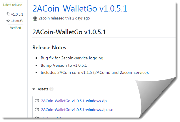 2ACoin-WalletGo v1.0.5.1