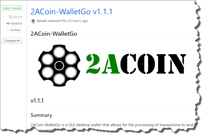 2ACoin-WalletGo v1.1.1
