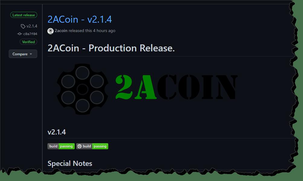 2ACoin v2.1.4 Release