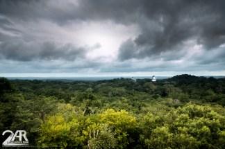 Maya Ruinen von Tikal, Blick von der höchsten Pyramide