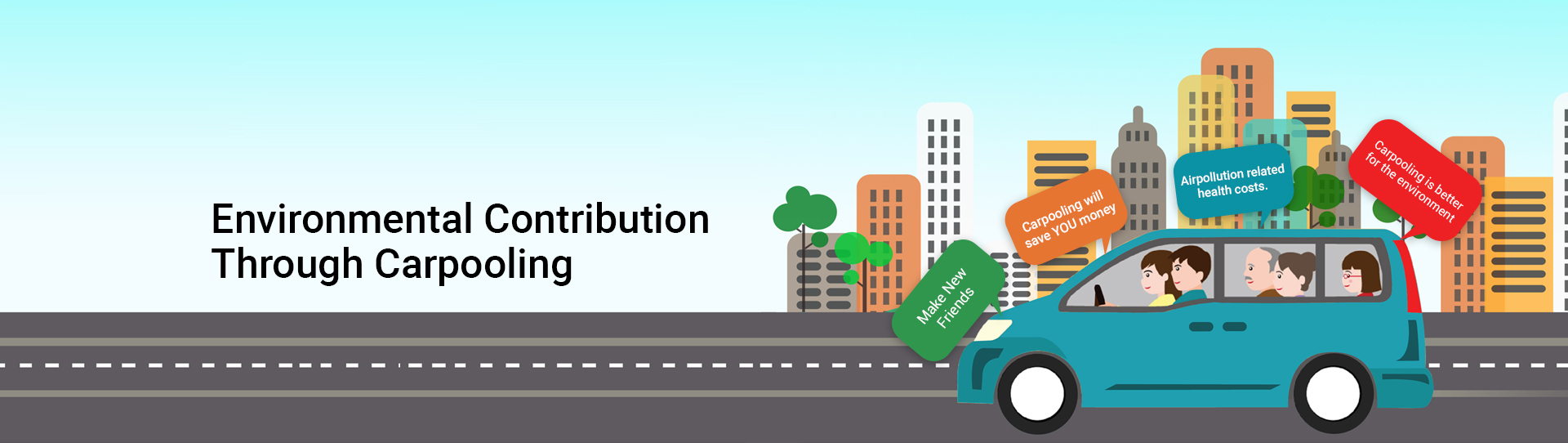 Make your contribution in protecting our Nature by Carpooling