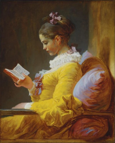 Young Woman Reading--Jean-Honoré Fragonard, 1776