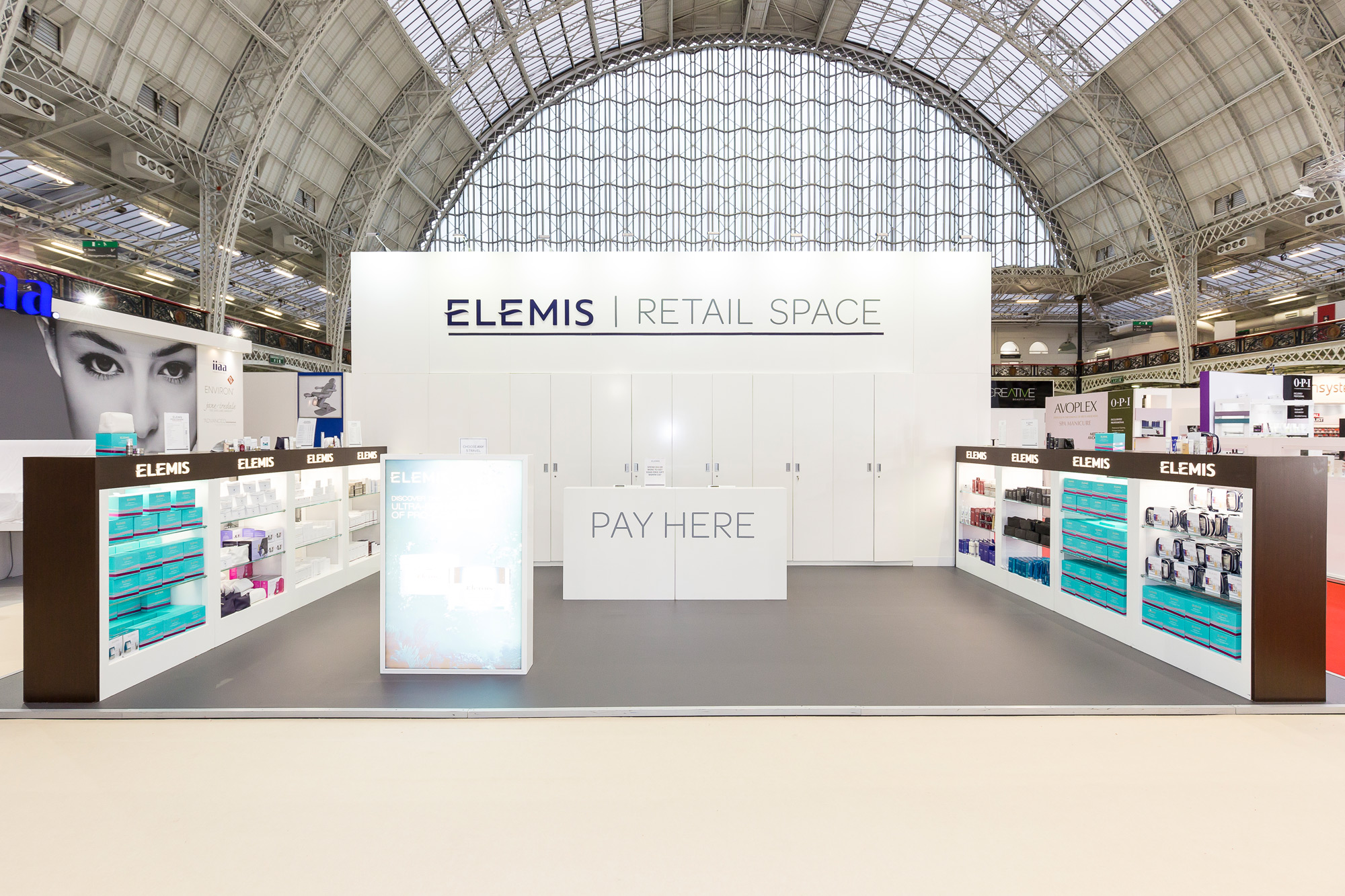 Exhibition Design for Elemis at Olympia Beauty