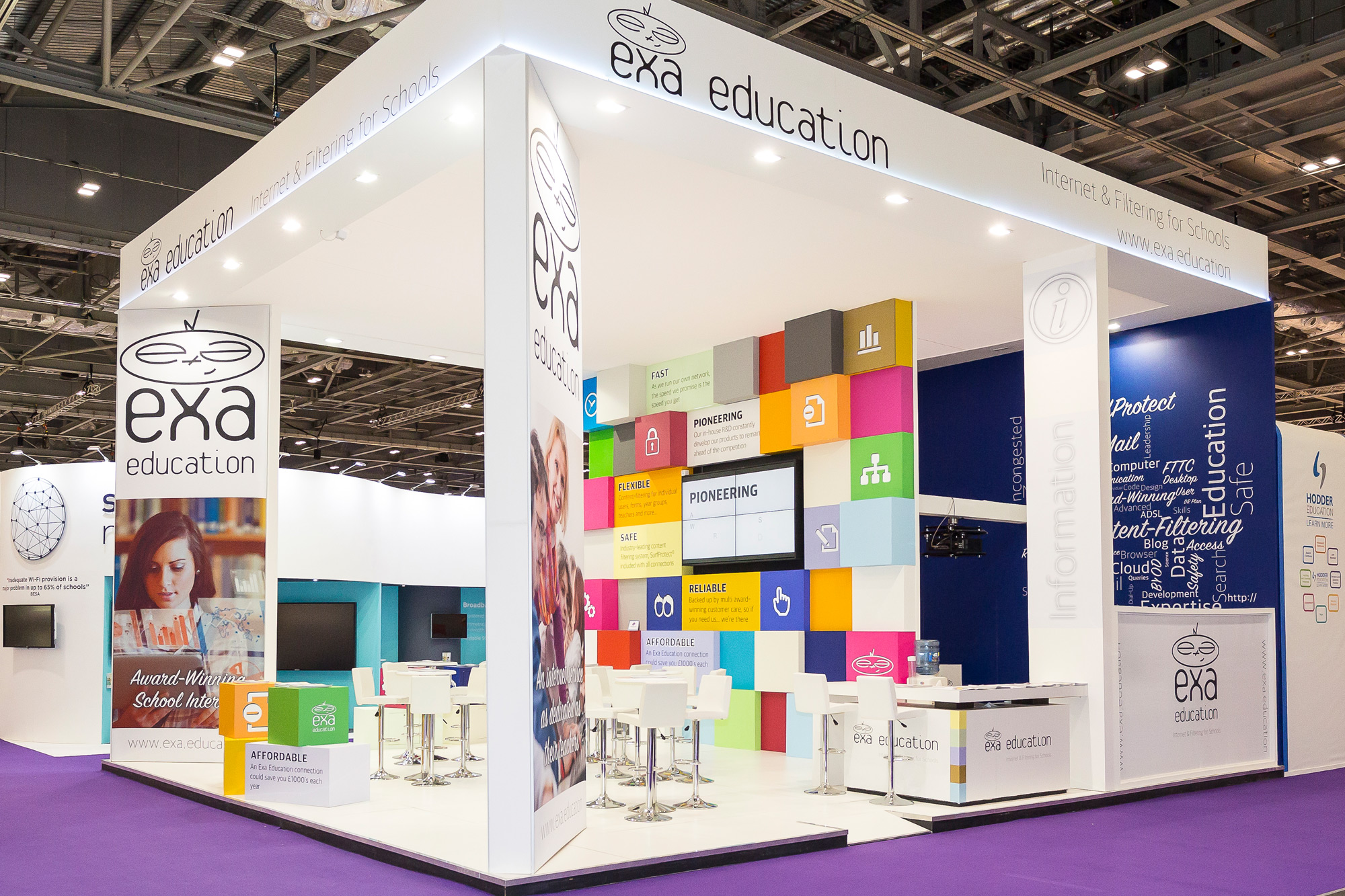 Exhibition Design for Exa Education at Bett