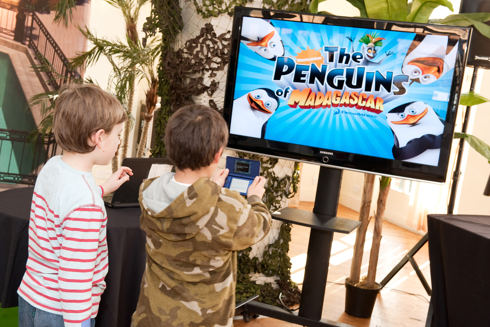 The Penguins of Madagascar launch event for Nickelodeon