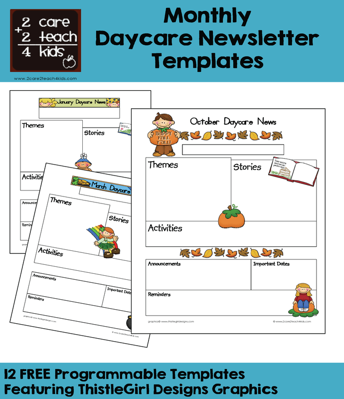 Child Care Newsletters Free Printable Templates