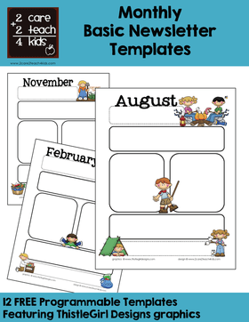 Newsletters Free Printable Templates 2care2teach4kids Com