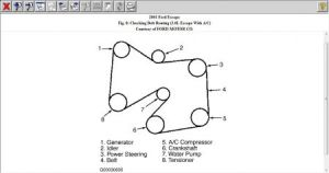 Ford Taurus Serpentine Belt Routing Pictures
