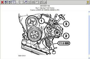 2000 BMW 528 Need Fan Belt Routing for 2000 BMW 528i