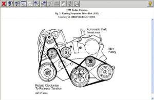 1992 Dodge Caravan SERPINTINE BELT ROUTING MAP: 1992 Dodge Caravan