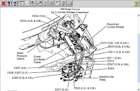 2001 dodge caravan cooling fan wiring diagram  pedestal