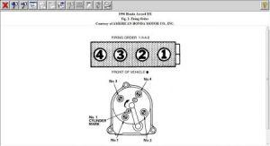 Distributor Firing Order: Four Cylinder Front Wheel Drive