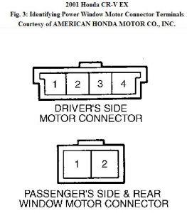 2001 Honda CRV Power Window Front: Power Window Front