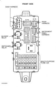 2000 Mitsubishi Diamante BLOWER SPEED CONTROL RELAY: I