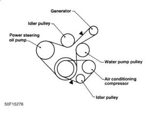 1997 Nissan Altima Need Belt Routing Diagram: Engine
