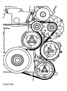 Need Diagram for Replacing a Serpentine Belt