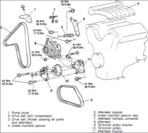 1997 Chrysler Sebring Alternator: Engine Mechanical