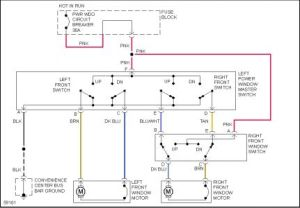 1993 Chevy Astro Right Front Window Switch Diagram