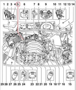 2002 Volkswagen Passat Coolant Temperature Sensor Location