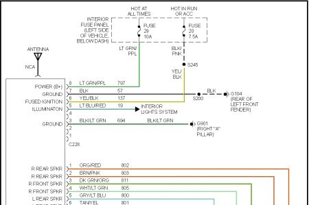1997 ford explorer wiring color code for cd player