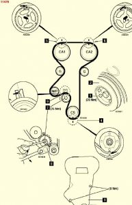2000 Daewoo Leganza Timing Marks for Crank and Cams